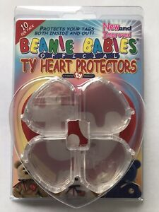 Tag Protectors OFFICIAL Ty tags for Beanie Babies 10 Brand New - In sealed pack