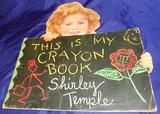 SE514 Vtg Children's Coloring Book This Is My Crayon Book Shirley Temple 1935