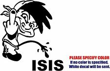 Calvin Pee Piss on ISIS #2 Graphic Die Cut decal sticker Car Truck Boat 6""