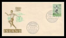 Iceland 1964 FDC, The Olympic Games In Toyko. Lot # 3.