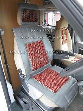 Fiat Ducato Autocaravana 2011 Cubierta de asiento Cojín de masaje con cuentas MH501 Gris Rossini