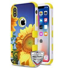 MYBAT Sunflower Field/Yellow TUFF Hybrid Phone Protector Cover for iPhone XS/X
