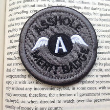 AS***LE MERIT BADGE MORALE TACTICAL MILITARY AIRSOFT PATCH/GRAY