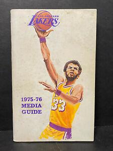 1975-76 NBA Los Angeles Lakers Media Guide Kareem Abdul-Jabbar / Gail Goodrich