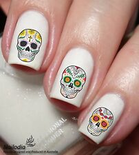 Sugar Skull Assorted Nail Art Sticker Water Transfer Decal Tattoo wrap 66