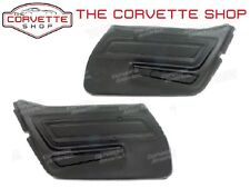 C3 Corvette Basic Door Panel Pair Black 1970-1977 442120 442220