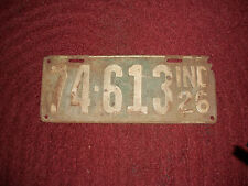 Early Antique Vintage License Plate 1926  Metal