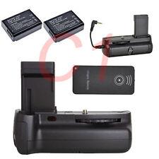 Vertical Battery Grip + 2 x LP-E10 + IR Remote F Canon 1100D 1200D 1300D Camera