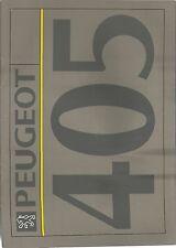 PEUGEOT 405 brochure 1991-2. 405 Mi-16x4 au style d UK postfree