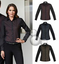 Polyester Long Sleeve Machine Washable Striped Tops & Blouses for Women