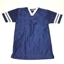 Puma Mens Blue White Short Sleeve Soccer/Rugby Jersey Size Medium M