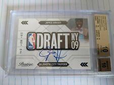 2009-10 Prestige NBA Draft Class Rookie Auto James Harden BGS 10/10 Low Pop 4