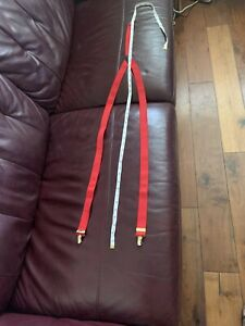 mens braces used Red Clip On 3cm Wide Skin Rude Boy - See Pictures