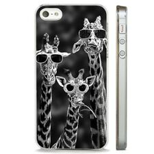 Giraffe Funny Glasses Cool Nature CLEAR PHONE CASE COVER fits iPHONE 5 6 7 8 X
