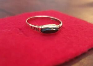 9ct Gold Onyx Ring Size M