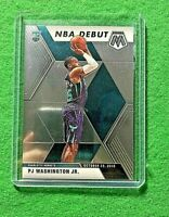 PJ WASHINGTON JR ROOKIE SILVER CHROME CARD CHARLOTTE HORNETS 2019-20 MOSAIC RC