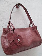 -AUTHENTIQUE sac à main LE TANNEUR cuir esprit croco TBEG vintage bag