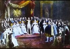 Napolean Surrounded by His Contemporaries, Painting, Magic Lantern Glass Slide
