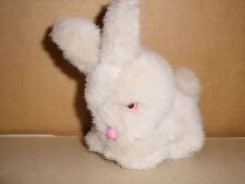 Pier 1 One Imports Plush Stuffed Bunny Rabbit Pink Eyes & Nose 5'' Excellent
