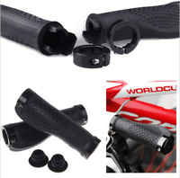Bike Grips Rubber Mountain Bicycle MTB Handlebar Ergonomic Cycling Lock On  TPR