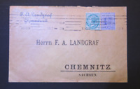 NSW SUPERB 1909 LETTER SYDNEY TO SACHSEN GERMANY (HK0)