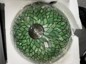 2-Light Tiffany Style Lamp Art Glass Geometry Shape Floor Lamp UL Listed. Green