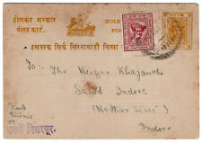 (I.B) India Postal : Holkar-Indore Post Card ¾a