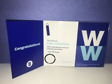 Weight Watchers 5 lb. Milestone Weight Loss Charm & Holder Blue/Silver Brand NEW