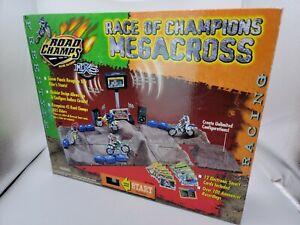 Road Champs Motocross  Race of Champions Megacross MXS Track Set New Sealed Rare