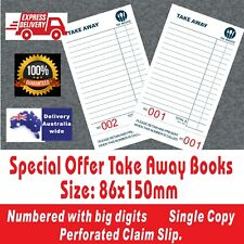 Wholesale Take-Away Docket Book Single Copy Fast Delivery Australia  Wide