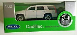 🚓 WELLY NEX CAR Scale Model 1:60 Cadillac Escalade GMT white jeep