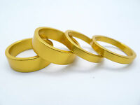 """4 PCS 1 1/8"""" Alloy Headset Spacer 5mm*2, 10mm*2 (Anodized Gold)"""