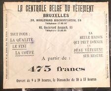 1934 Bruxelles Belgium Advertising Meter Cancel Cover Belgian clothing center