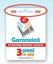 Garanzia3 GR3-500 Estenesione di Servizio Tecnoco (3 anni) - 8033509880011