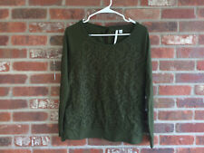 LC Lauren Conrad , Front Lace /W/ Lining,Forest Green Back Key Hole /W/Tie Top M