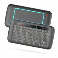 Keyboard 2.4GHz Wireless Backlight Touch Pad 280mAh Battery Mouse PC Smart TV