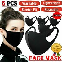 5x Face Mask Reusable Masks UK Washable Mouth Nose Breathable Protection Cover