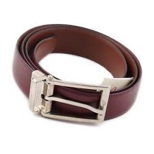 NWT $550 BRIONI Reversible Burgundy and Brown Calf Leather Belt 44 W (Eu 115)