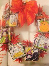 Joan Elliott Halloween Cards Witch Ghost Cat Moon Pumpkin Cross Stitch Chart