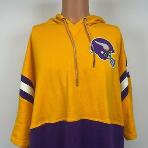 Mitchell And Ness Minnesota Vikings Short Sleeve Fleece Hoodie Sweatshirt 3XL