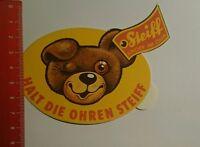Aufkleber/Sticker: Halt die Ohren steiff Knopf im Ohr (01101669)