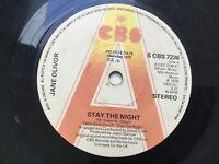 Rare Promo / Demo: Jane Oliver: Stay The Night; UK CBS 7236: 1978: Free UK Post