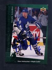 1994 Upper Deck Scoring Predictor #R6 Dave Andreychuk Signed Auto Card JC LOA