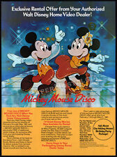 MICKEY MOUSE DISCO promotion__Vintage 1981 Print AD / video promo__Walt Disney