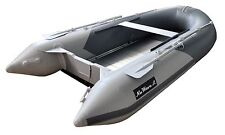 """11' 10"""" ft Inflatable Boat Raft Fishing Dinghy Tender Boat Gray/Navy"""