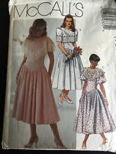 Pattern McCall's 4737, misses' dress, harem waist, lace, below knee, retro 90s