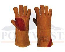 Portwest Reinforced Welding Gauntlet Work Gloves Welding Safety Workwear A530