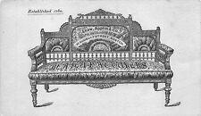 Boston MA 1800's Shaw, Applin & Company Sudberry St Furniture Tradecard