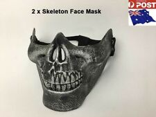 2 x New Skull Face Mask Dancing Masquerade Party Halloween Costume AU