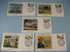 """5 piccole SETA TIMBRO copre, """"MANX PIONIERI in tasmania"""", Isola di Man 1980"""